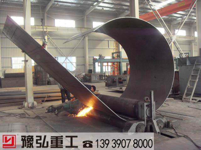 污泥干化机主机卷板生产图